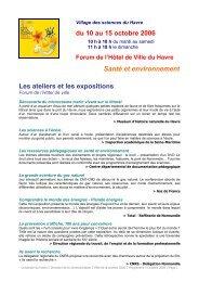 Voir le programme détaillé - Science Action Haute-Normandie