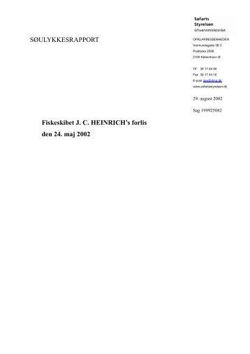 HEINRICH - forlis den 24. maj 2002 - Søfartsstyrelsen