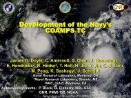Development of the Navy's COAMPS‐TC
