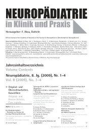 #6222_Jahresinhaltsverz. 2009.indd - Neuropädiatrie in Klinik und ...
