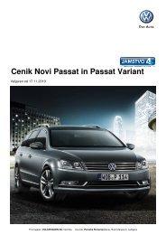 volkswagen passat - cenik - Avto.info