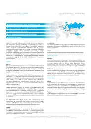 Download company at a glance - Lundin Petroleum