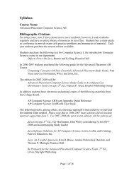 Syllabus - Horace Mann Webmail
