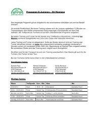 Programm G-Junioren – SV Rümlang