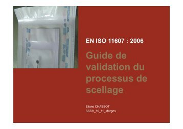Guide de lid ti d validation du processus de processus de scellage