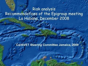 Epi RA recommendations - Caribvet