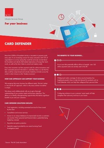 CARD DEFENDER - Lifestyle Services Group Ltd