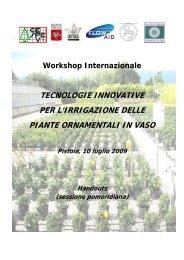 tecnologie innovative per l'irrigazione delle piante ... - Ce.Spe.Vi.