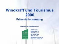 Windkraft und Tourismus 2006 Präsentationsauszug - SOKO Institut