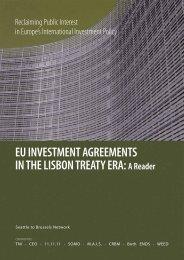 EU INVESTMENT AGREEMENTS IN THE LISBON TREATY ERA: A ...