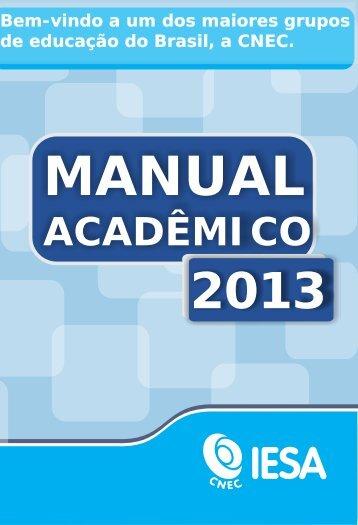 Manual Acadêmico 2013 em formato PDF - Iesa