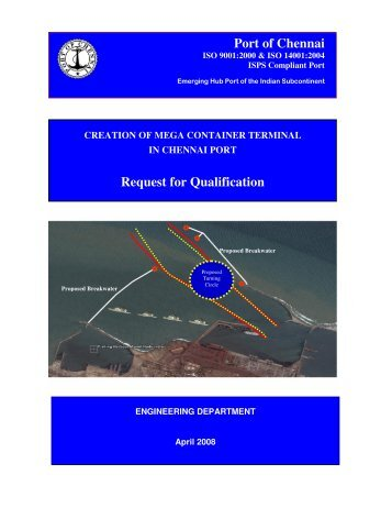 Port of Chennai Request for Qualification