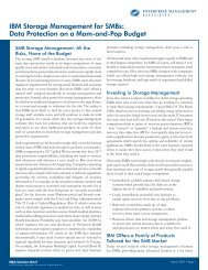 IBM Storage Management for SMBs: Data Protection on a Mom-and ...