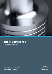 Tier III Compliance – Low Speed Engines - MAN Diesel & Turbo