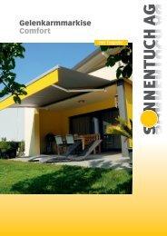 Gelenkarmmarkise Comfort - Sonnentuch AG