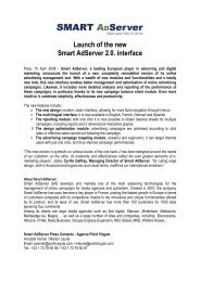 Launch of the new Smart Adserver 2.0. interface