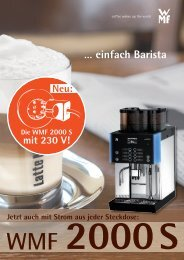 … einfach Barista - WMF Kaffeemaschinen