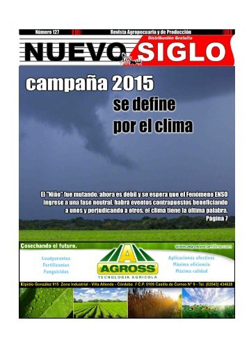 Revista Agropecuaria Nuevo Siglo Número 127