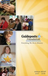 ANNUAL REPORT 2007 - 2008 - Guideposts Foundation