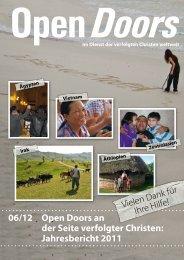 Jahresbericht 2011 06/12 - Open Doors