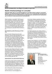 Region Limmattal April 2012 - Amt für Wirtschaft und Arbeit