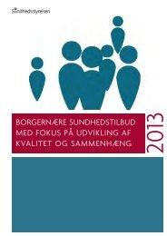 Borgernære sundhedstilbud - Sundhedsstyrelsen