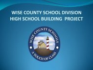 Phase I - Wise County Public Schools