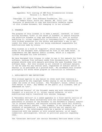 Appendix A. GNU Free Documenta...