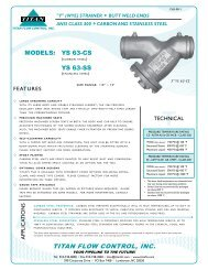 TITAN FCI MODEL YS 63 CS/SS - Temp-Press Inc