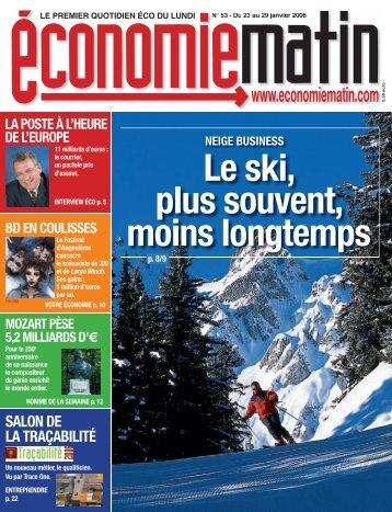 Le ski, plus souvent, moins longtemps - Watine Taffin