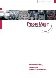 non-food-catering, mobiliar und frontcooking equiPment - Profimiet