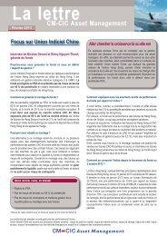 11/02/2013 L'Actu CM-CIC AM - CM-CIC Asset Management