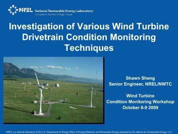 NREL Power point slide template - cover and main slide