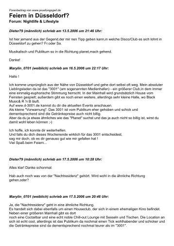 Feiern in Düsseldorf? - Studentenportal pruefungsgeil.de