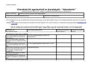 Checklista för egenkontroll av brandskydd - Lunds universitet