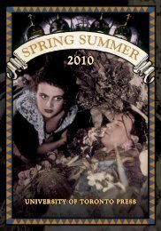 Spring/Summer 2010 - University of Toronto Press Publishing