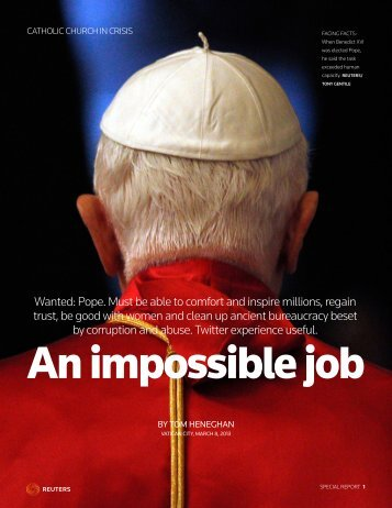 Wanted: Pope. Must be able to comfort and ... - Thomson Reuters