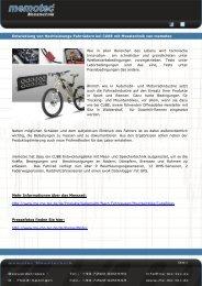Pressemitteilung Cube Bikes mit Messtechnik von ... - PresseBox