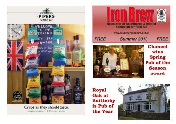 Iron Brew Summer 2013 - Scunthorpe & District CAMRA