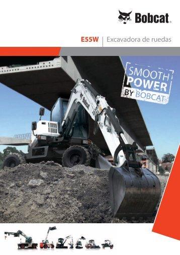E55W | Excavadora de ruedas - Bobcat.eu