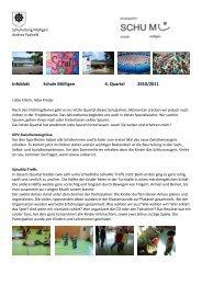 Infoblatt Schule Mülligen 4. Quartal 2010/2011