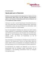 Opodo jetzt auch in Österreich