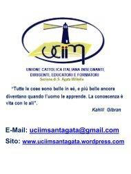 E-Mail: uciimsantagata@gmail.com Sito: