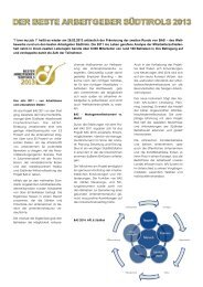 Der Beste Arbeitgeber Südtirols 2013 - Business Pool