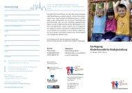 Layout Flyer Fachtag.indd - Kinderfreundliche Stadtgestaltung