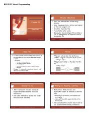 Chapter 11 Chapter Objectives Data Files File I/O Simple File ... - TATI