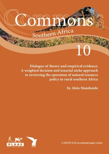 Dialogue of theory and empirical evidence: a review of community ...