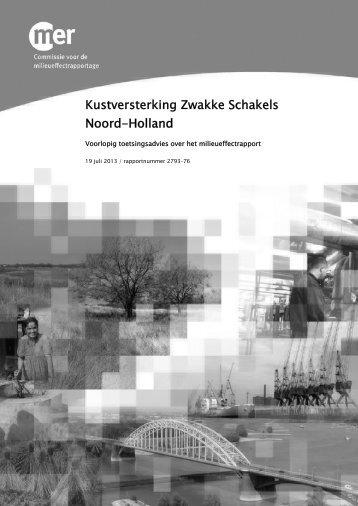 Kustversterking Zwakke Schakels Noord-Holland - Commissie voor ...