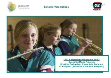 cvc newsletter canning vale college