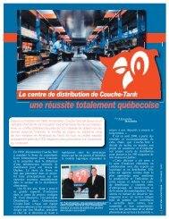 Le centre de distribution de Couche-Tard: - Kom International, Inc.